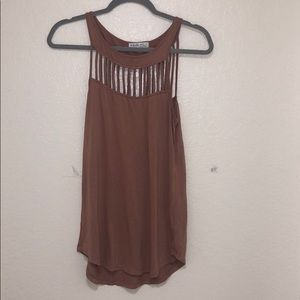 Naked Zebra Dusty Rose Tank Top Size: Small